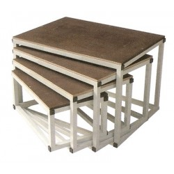Lot de 4 Bancs Plio Gigogne